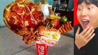 피자+햄버거+샌드위치를 컵에 준다..?!! 실제로 존재…
