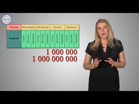 Математика 5 класс. Натуральные числа. Чтение и запись
