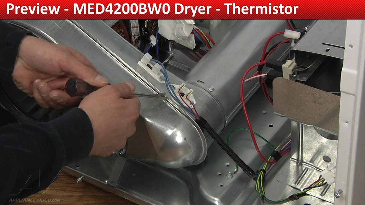 Thermistor Med4200bw0 Maytag Dryer Youtube Wiring Schematic For As Well Kenmore Thermal