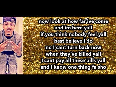 August Alsina - Look At How Far I've Come (Lyrics)