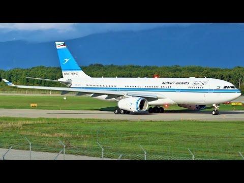 [FullHD] Kuwait Airways Airbus A330-200 takeoff at Geneva/GVA/LSGG