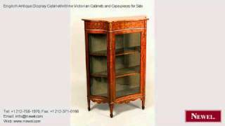 English Antique Display Cabinet/vitrine Victorian Cabinets