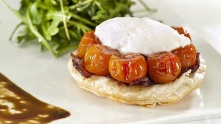 Vine Ripened Cherry Tomato Tarte Tatin With Caramelised Onions & Goats Cheese