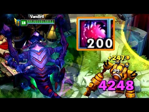 New Cho'Gath E + 200 Feast Stacks