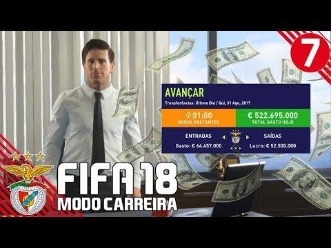 '65.000.000€ EM TRANSFERÊNCIAS!!!' | FIFA 18 Modo Carreira (SL Benfica) #07