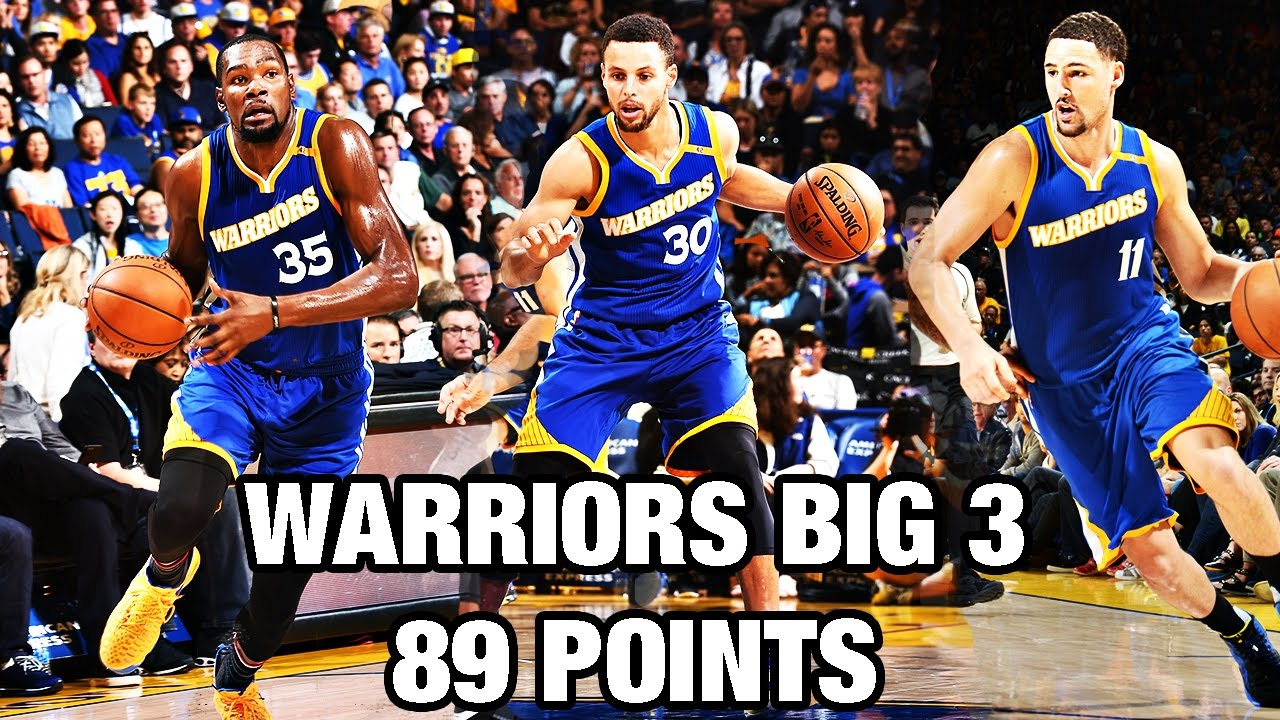 0662966c961df1 Stephen Curry, Kevin Durant, & Klay Thompson Put up 89 Points! - YouTube