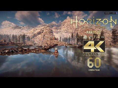 27 Horizon Zero Dawn 4K 60fps  Logia Caza Carrera PS4 PRO Español Gameplay