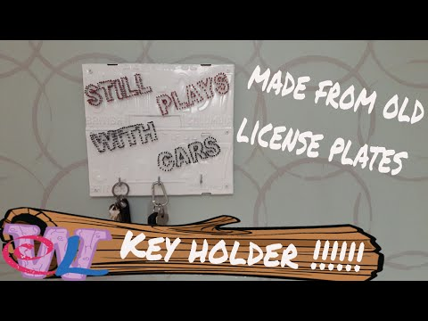 Key Holder Art Out Of License Plates And Nails