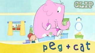 peg cat math in the bath elephant in the tub