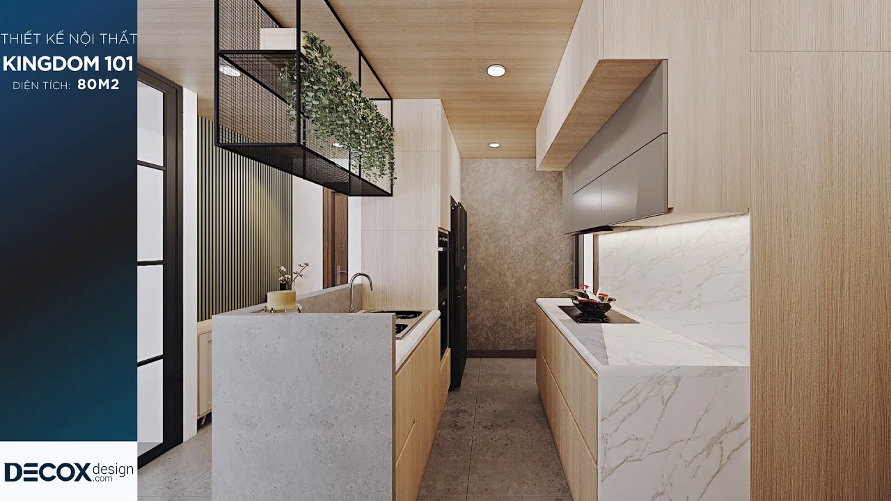Mẫu thiết kế nội thất căn hộ Kingdom 101 80m2 – Quận 10
