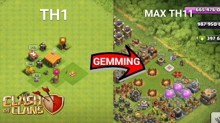 Gemming Everything From TH1 To TH11 - Clash Of Clans (Private Server 2017 For Android And IOS)