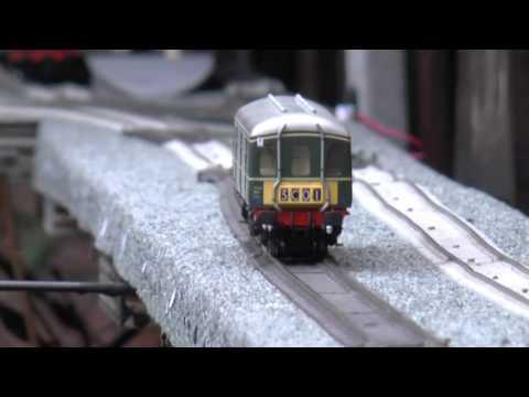 Bogglesham  OO guage railway Heljan Met 5 and Class 128
