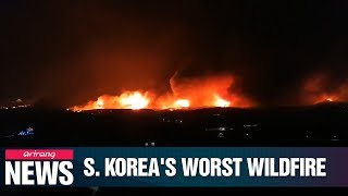 S. Korea battling its worst wildfire in years