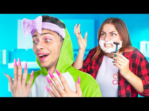 Boy and Girl Body Swap for 24 Hours!