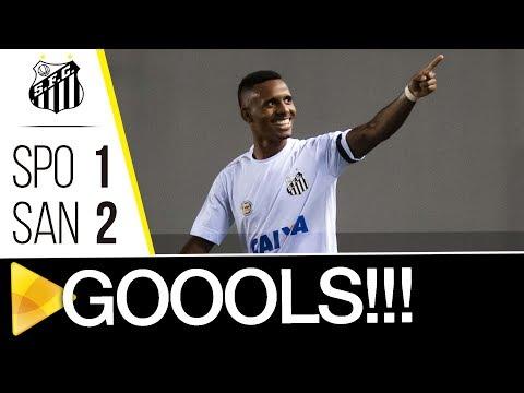 Santos 2 x 1 São Paulo | GOLS | Brasileiro de Aspirantes (23/11/17)