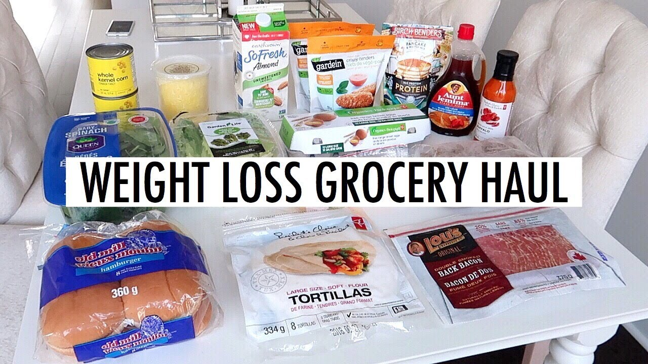 WEIGHT LOSS GROCERY HAUL - YouTube