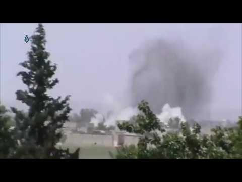 Rif Dimashq: Syrian Regime Bombard Beit Nayem Town 17-5-2017