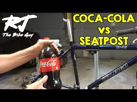 Removing A Seized Seatpost with Coke/Coca-Cola - Will It Work?