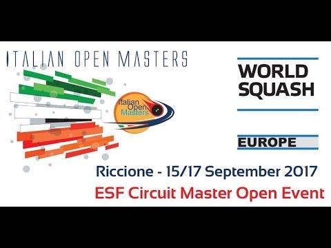 2017 - Squash - Italian Open Masters - Day 1