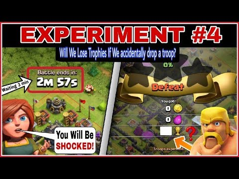 Will Our Trophy Decrease If We Deploy A Troop Accidentally But Wait For Full 3 MINS | EXPERIMENT #4