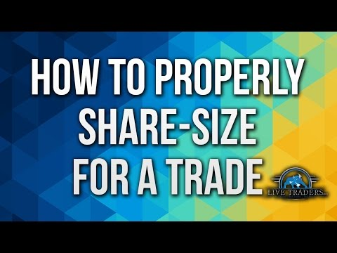 How to Properly Share-size for a Trade