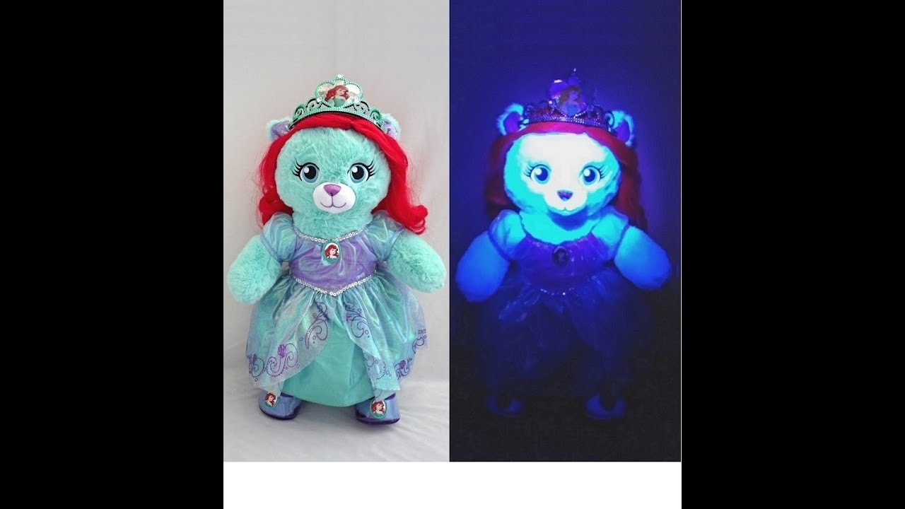 b13c0377fab Build-A-Bear Workshop Limited Edition Ariel Bear - YouTube