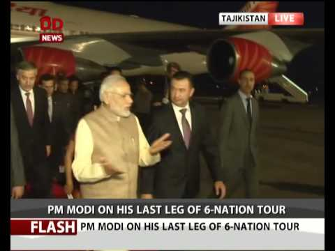 PM arrives in Tajikistan's capital Dushanbe