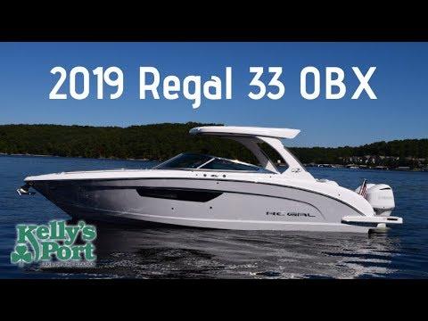 2019 Regal 33 OBX at Kelly's Port (www KellysPort com)