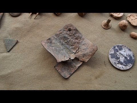 Metal Detecting! - Found Rare Slave Tag and Silver Half Dollar!