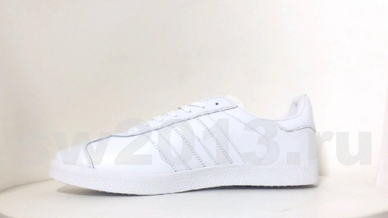 detailed look eb0d6 b707f Adidas Gazelle White Leather Men