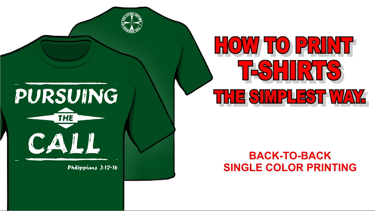 How To Print T Shirts The Simplest Way Youtube