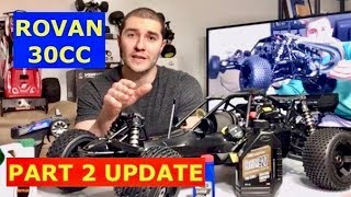 ROVAN 30CC gas buggy UPDATE (oil choice - upgrades and Lifting your RC)