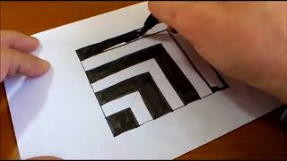 Very Easy!! How To Draw   3D Trick Art on paper by imran