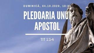 Sfanta Treime Braila - 4 Octombrie 2020 - pastor Iosua Faur - Tit 1:1-4