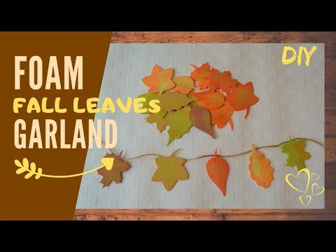How to make simple leaf garland | easy craft on a budget