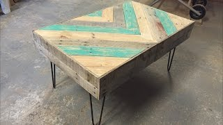 "This coffee table was inspired by Bob Claggett from ""I Like to Make Stuff."" This project was fun to make and looks great in my home. I"