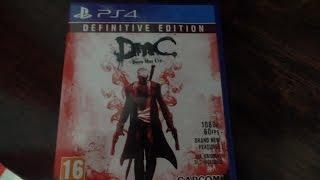 Devil May Cry Definitive Edition ps4 unboxing ديفيل ماي كراي بالغلاف نسخة البلايستيشن 4