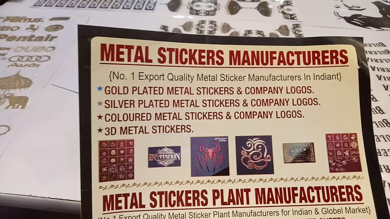 Electroforming metal stickers plant manufacturers from india