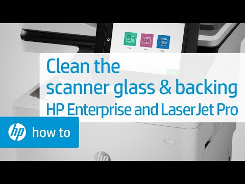 Cleaning the Scanner Glass and White Backing for HP and LaserJet Pro Printers | HP LaserJet | HP