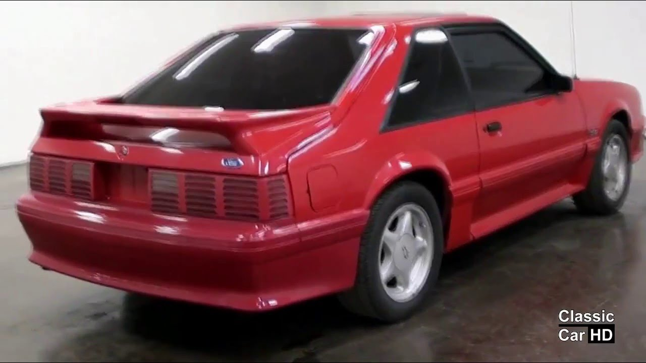 1992 ford mustang gt 5 speed classic car hd