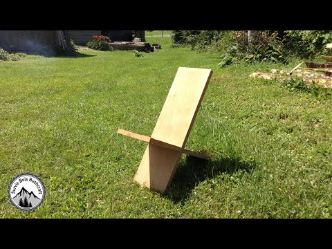 Comment construire une chaise de viking en bois youtube for Chaise en bois