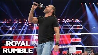 Shawn Michaels fires up the WWE Universe at Royal Rumble 2017