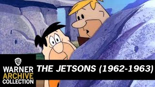 The Jetsons meet The Flintstones for the first time!
