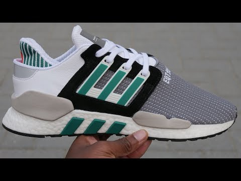 Most Comfortable Boost Sneaker? Adidas EQT Support 91/18 (Core Black, Clear Granite + Sub Green)