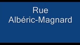 Rue Albéric Magnard Paris Arrondissement  16e
