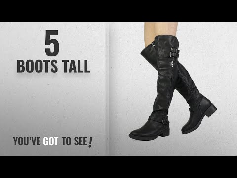 Top 5 Boots Tall [2018]: DREAM PAIRS Women's Argentina Black Over The Knee Riding Boots Size 7.5 M