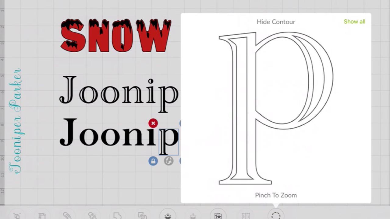 Cricut Explore Design Space Tutorial Blackout Layer for Fonts