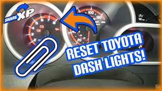 Reset Toyota dash lights VSC ABS Traction Control Corolla Matrix 2010
