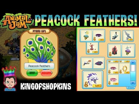 Animal Jam - 20 TOY CODES - PEACOCK FEATHERS!! + Trade Attempts Value