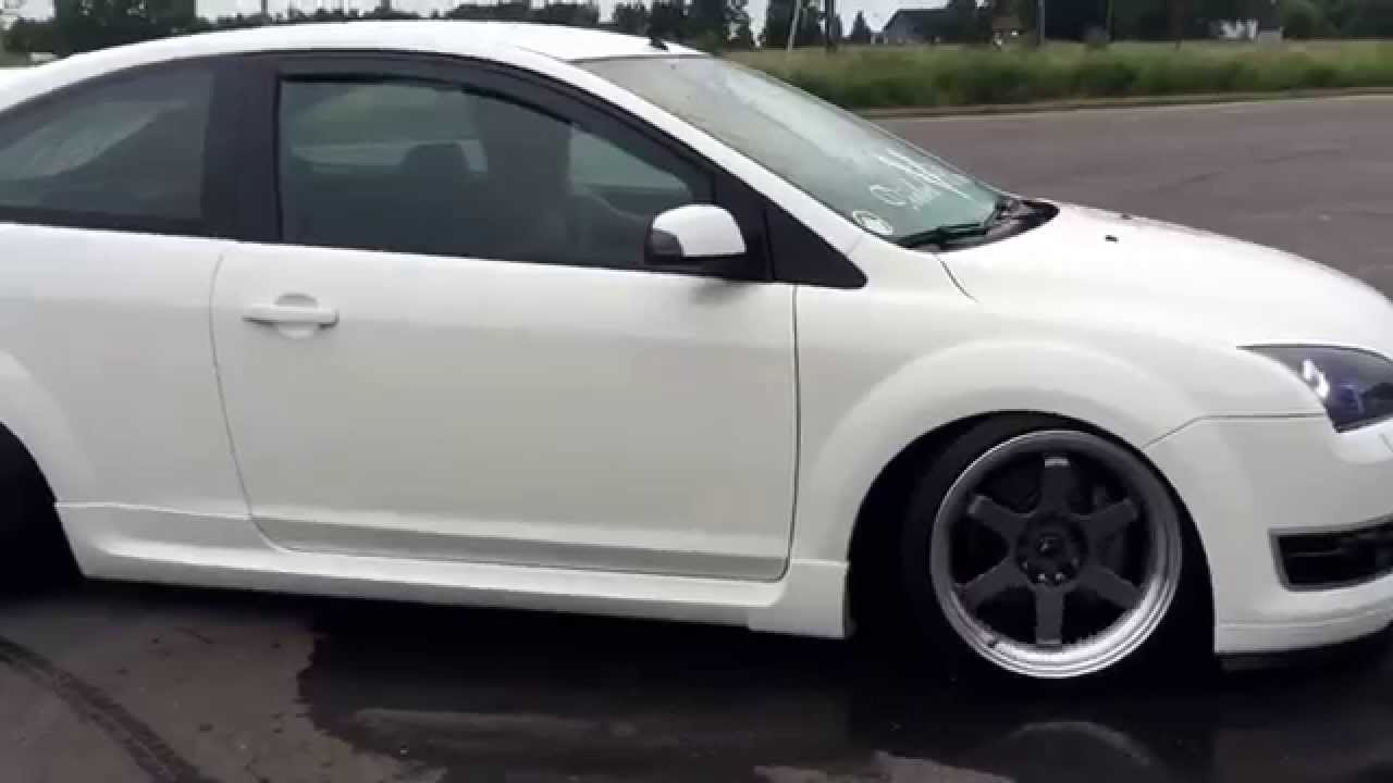 Focus St Exhaust >> Ford Focus st 225 stance exhaust sound - YouTube